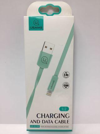 kabel data usb cable lightning usams murah original