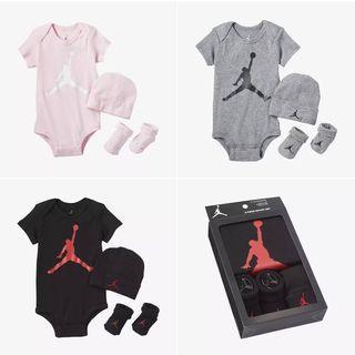 🌞 Nike Jordan  純色系 彌月禮盒/包屁衣禮盒