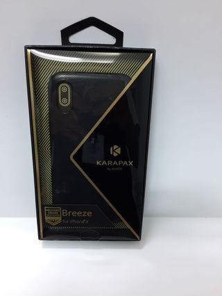 silicon case iphone x/s karapax black by anker original