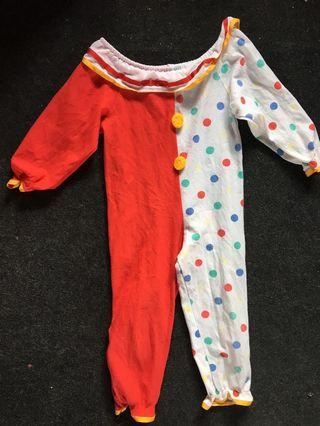 clown costume 3t