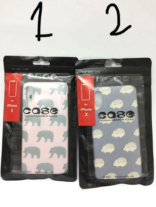 silicon case iphone x/s animals ada 2 motif ori