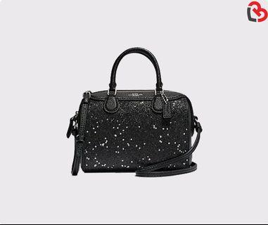Coach Micro Bennett Satchel With Star Glitter