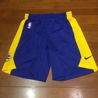 Nike NBA GSW 日本限定 男運動籃球短褲 金州勇士團隊練習球褲 短版 客場配色 快速排汗 Warriors M