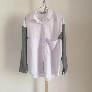 Grey-White Blouse