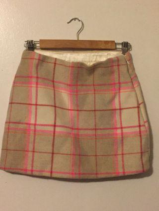 Vintage Gap Wool PLAID SKIRT