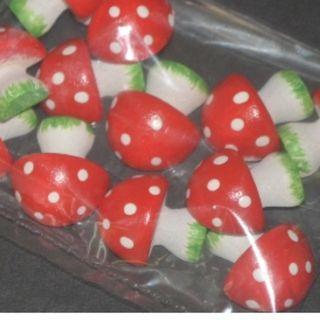 $5/bag wooden mushroom-12 pcs./bag-about 22mmH.