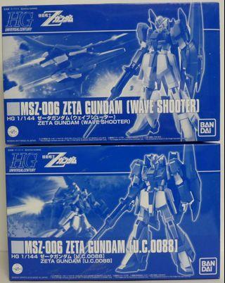 日本直送未砌 1/144 HG Z GUNDAM 高達共6盒 #1291