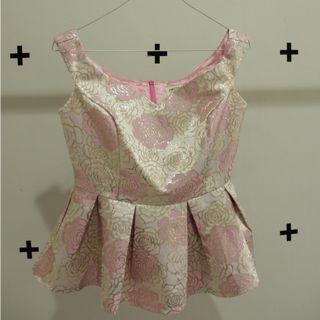 Peplum Top Pink