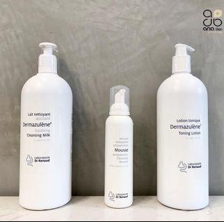 Dr Renaud cleansing milk, mousse and toning lotion
