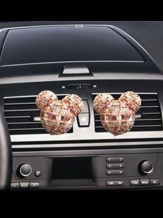 Car Air Diffuser Pink Crystal Micky Mouse