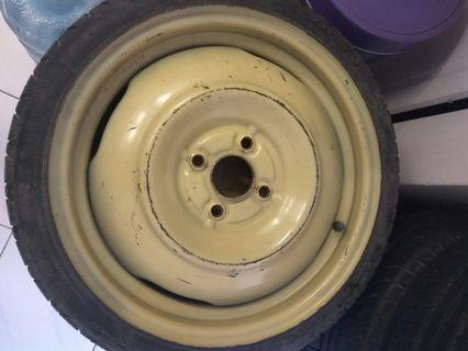 Spare tyre PCD 100 size 16 rare