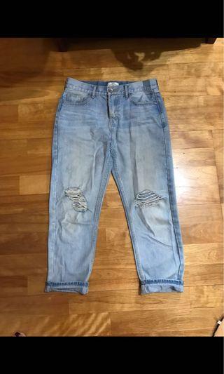 🚚 只要100元 牛仔褲 男友褲 boyfriend jeans