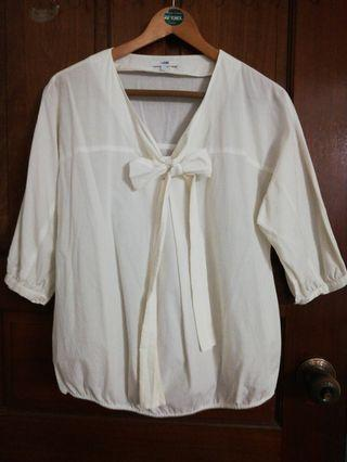 White beige blouse