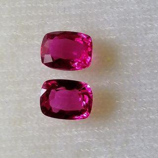 Beautiful Pink Sapphire 6x4 Pair. Sweet Pink. Lovely for Ear Ring. Customizing Possible with your own design Gold