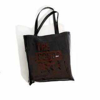 The Goods Dept Totebag Transparant - Black Maroon
