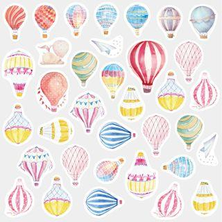 Balloon Stickers / Hot Air Balloon Stickers