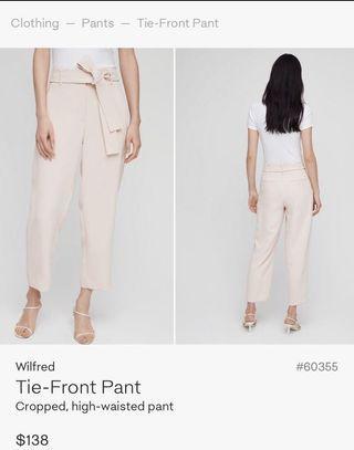 Aritzia Tie Front Pant