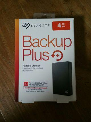 Seagate Backup Plus 4TB external hard drive HDD portable USB 3.0