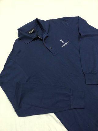 ysl L/S polo blue