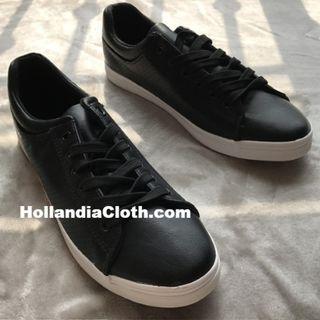 以色列名牌黑色男士透氣孔軟皮布鞋smart casual運動行街返工有型有款-hc081