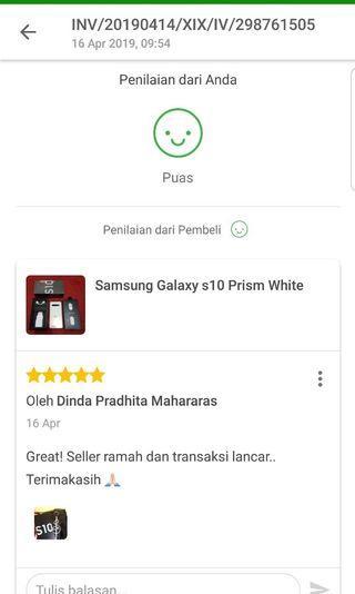 Testimoni Pembelian Samsung Galaxy S10 via Tokped 👍