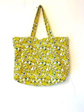 H&M banana shopping bag/shoulder bag香蕉圖案肩背包