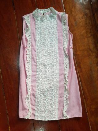 Brandnew pink pin stripes dress