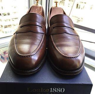 Loake 1880 Whitehall dark brown loafer UK 9.5 Made in England used