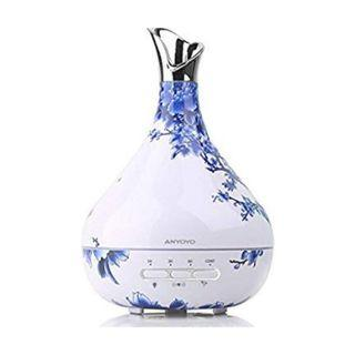 (1154) Latest Version Aroma Diffuser,300ml Essential oil Diffuser Aromatherapy Humidifier with Motion Detection 10H Use Waterless or Rollover Auto-Off Ultrasonic Cool Mist Best Gifts for Her Fragrance Essential Oil Diffuser for Aromatherapy