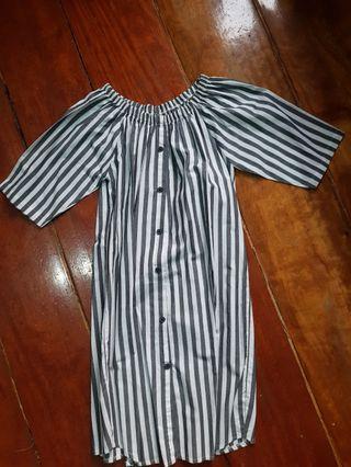 Off shoulder korean dress