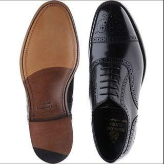 Herring oxford Black polished UK9.5F made in England UK barker cheaney trickers loake