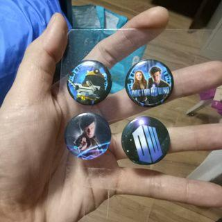 [FREE] Doctor Who button pins