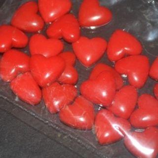 $10/4 bag Mini Red Heart-about 15g.(24 Pcs.) -about 1cm