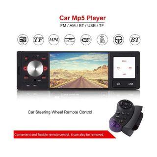 """(1202) Fosa 4"""" HD Digital Screen Din Car Radio MP5 Player with FM AM AUX Radio Car Audio Player Support USB SD Card AUX Input Wireless Remote Control and Steering Wheel Remote Controller"""
