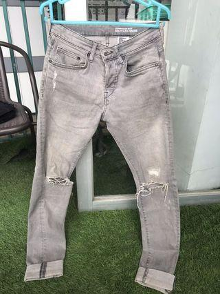 H&M Skinny Ripped Jeans