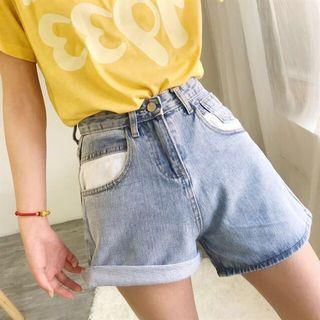 🚚 泫雅同款牛仔短褲
