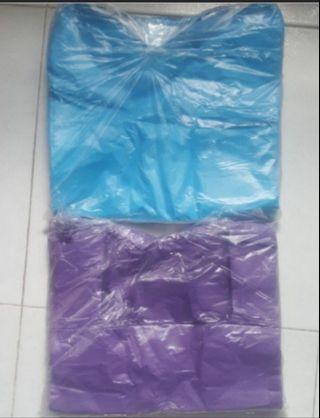 10 PACKS Of Plastic bag to clear ..Brand new . SIZE 33cm X 50cm