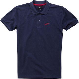 Alpinestars Effortless Pique Polo Shirt Navy/Red - Size S
