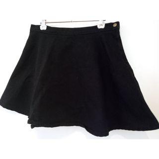 American Apparel Natural Denim Circle Jean Flare Skirt L