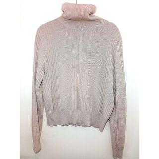 ASOS Light Pink Turtle Neck Yak Blend Long Sleeve Top | Size 16