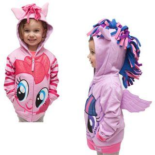 👶Toddlers Children Girl Fashion My Little Pony Hooded Wings Hoodie Zip Outerwear Coat Jacket