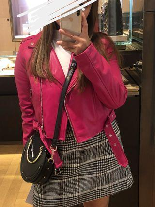 Forever21 Hot Pink Leather Jacket