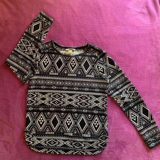 H&M Aztec patterned sweater