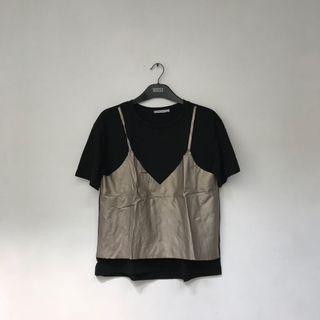 🚚 Black Leather Top Zara