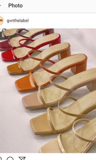 The Selene Sandals in Rust