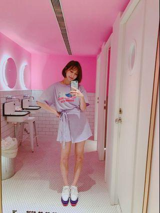 🚚 粉紫色上衣+褲裙套裝