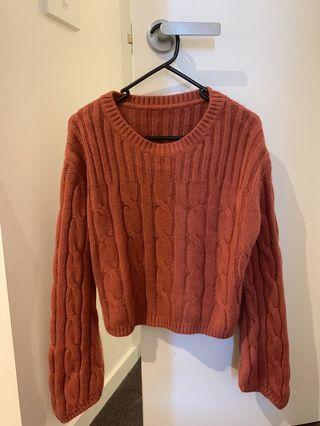 Cute dark orange sweater