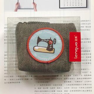 🚚 【斷捨離-全新】舊物 帆布零錢包-縫紉機