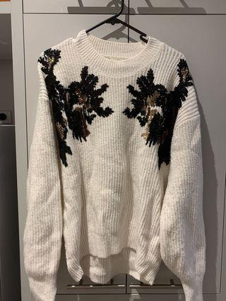 (Size S)H&M white sweater