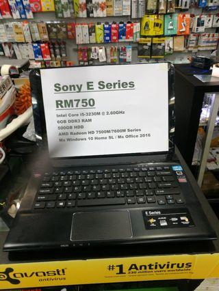 Sony I5 3th Gen 6GB Ram E Series laptop